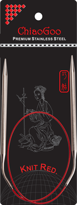 "SS Knit RED Circulars - 24"" (60 cm) Image"