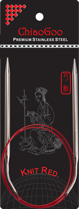 "SS Knit RED Circulars - 32"" (80 cm) Image"