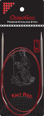 "SS Knit RED Circulars - 40"" (100 cm) Image"