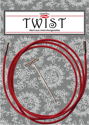 """TWIST™ Red Cables 37"""" (93 cm) Image"""